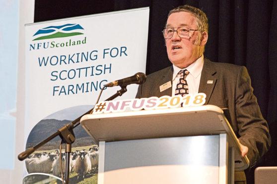 Chief of Scotland's farming union, Andrew McCornick.   NFU