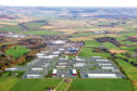 An aerial view of the business park with the proposed expansion.