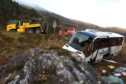 A bus left the road on the A87 a few miles west of the Cluanie Inn