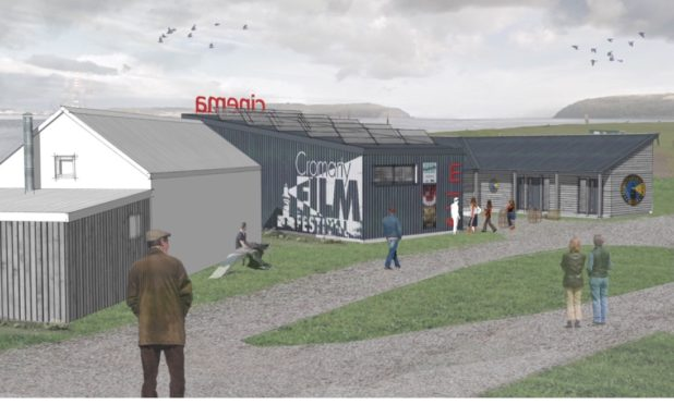 An artists impression of the new look Cromarty cinema.