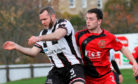 Elgin City defender Craig Beattie in action against Annan Athletic.