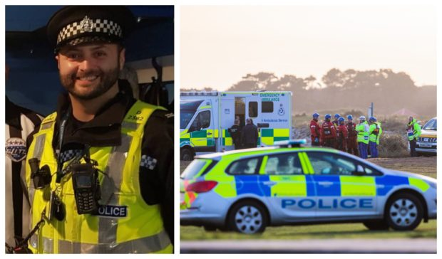 PC Dean Morrison's body was found in a burn at Carnoustie.