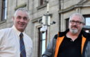 Brian Topping (left) and Ricky Sheaffe-Greene of the Fraserburgh CCTV Working Group are looking to raise £10k to add to a grant of £60k for a new CCTV system in the  port.