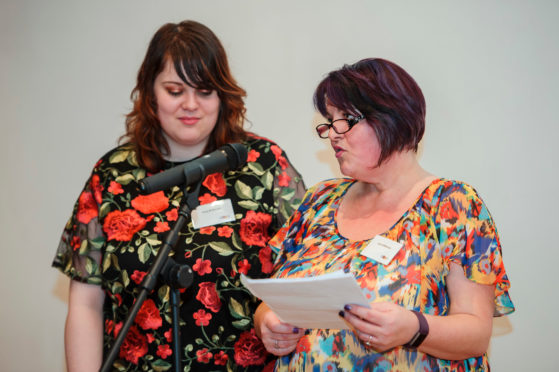 """Speakers share their stories at the Chas """"A place for living: Stories from a children's hospice"""" evening at the Scottish Storytelling Centre in Edinburgh."""