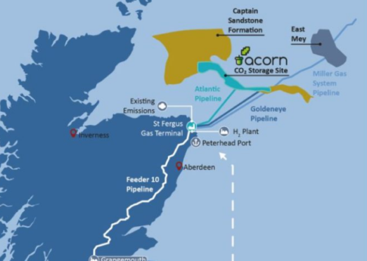 Acorn CCS has already identified potential transport and storage sites.