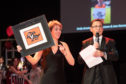 Chair Tracy Johnstone and host Alex Fleming at Charlie House Big Build Appeal Ball
