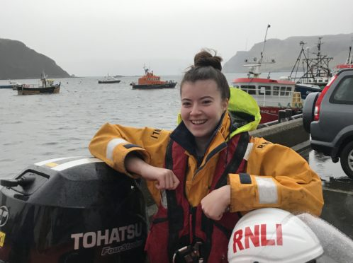 Seventeen-year-old Chloe Urquhart relished her first shout after spending her first Christmas with an active RNLI pager