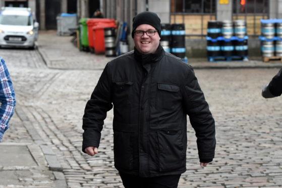 Christopher Willett outside Aberdeen High Court