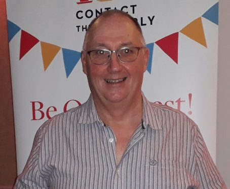 Contact the Elderly's Aberdeen area organiser John Gall with his Marsh Christian Trust Award