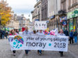 A march organised by Elgin Youth Cafe
