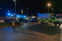 This is the scne of the RTC on the Roundabout outside the Laichmoray Hotel, Elgin, Moray involving 2 vehicles, a Honda CRV and a Suzuki SX4. Photographed by JASPERIMAGE ©
