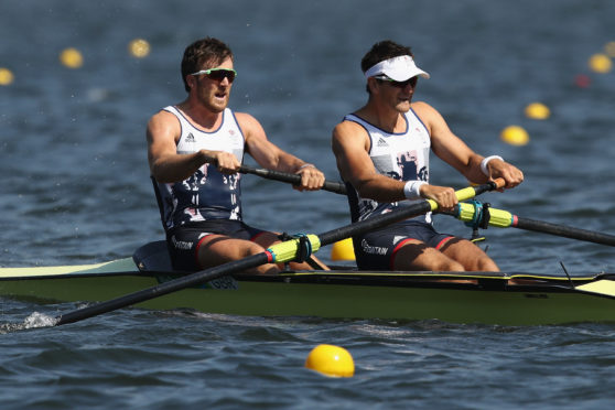 Alan Sinclair (left) is targeting a place at his second Olympic Games.