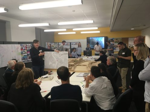 Architectural Technology students create ideas to regenerate Upper Bridge Street buildings.