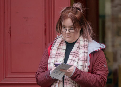 This is Lynzi Bruce following conviction for Drink Driving at Elgin Sheriff Court