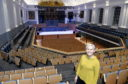 Pictured is Jane Spiers (Chief Executive at Aberdeen Performing Arts) at the new refurbished Aberdeen Music Hall which will reopen this weekend.