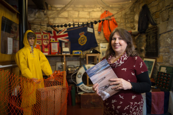 Yvonne Findlay - Author of Memories of Lossiemouth, launched today at Lossiemouth Fisheries and Community Museum in Lossiemouth, Moray.