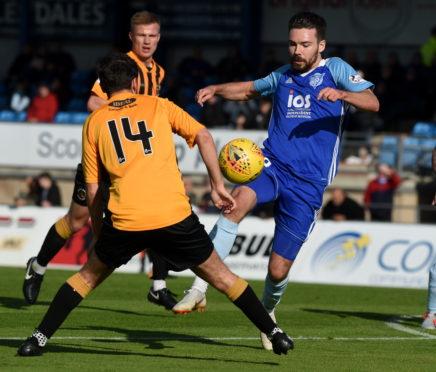 Ryan Dow is on loan at Peterhead until January.