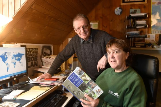 Paul and Grace Oxton of the International Otter Survival Fund based in Broadford, Skye but working around the world. Picture by Sandy McCook