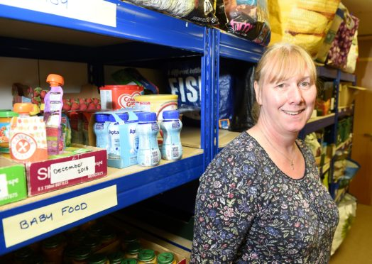 Lorna Dempster at the Blythswood Care Foodbank on Glebe Street in Inverness.