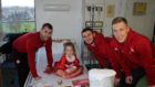 Aberdeen FC stars visited the Royal Aberdeen Children's Hospital.