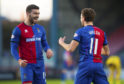 1/12/18 LADBROKES CHAMPIONSHIP INVERNESS CT v FALKIRK TULLOCH CALEDONIAN STADIUM - INVERNESS Inverness' Tom Walsh (R) celebrates with teammate George Oakley after firing his side ahead.