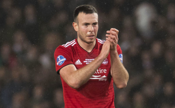 02/12/18 BETFRED CUP FINAL CELTIC v ABERDEEN HAMPDEN PARK - GLASGOW Aberdeen's Andy Considine at full-time