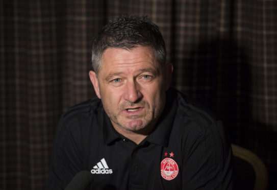Aberdeen assistant manager Tony Docherty speaking ahead of the match against Rangers.