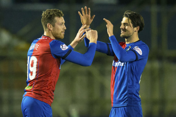Jordan White and Charlie Trafford were on the scoresheet for Inverness.