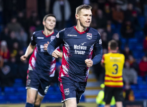 22/12/18 LADBROKES CHAMPIONSHIP ROSS COUNTY v PARTICK THISTLE GLOBAL ENERGY STADIUM - DINGWALL Ross County's Billy McKay celebrates his opener
