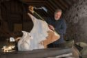 Renowned sculptor Scot Gleed in the process of designing the mould for the 20 strong army of squirrels which will be placed around the Highlands.