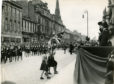 Princess Elizabeth visited Aberdeen to attend the Girl Guides' Rally.