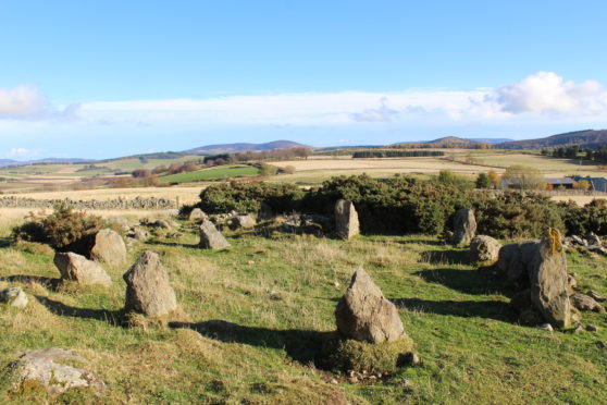 The stone circle was revealed to be a modern replica.