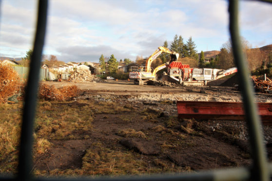 The old Upper Achintore Primary School being cleared.