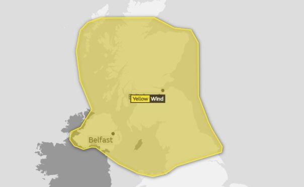 The Met Office is predicting large parts of Scotland will be met with strong winds on Friday.