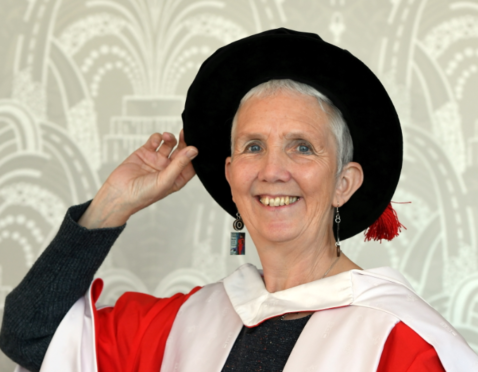 Ann Cleeves was made a Doctor of Letters at a special RGU graduation ceremony