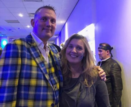Jane Tulloch with Doddie Weir.