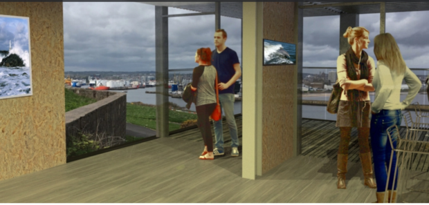 The proposed visitor centre is planned to give views across the harbour - including Aberdeen's population of dolphins in the harbour.