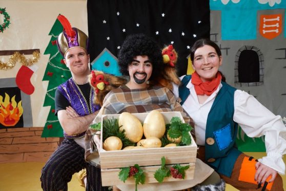 A fifteen-day national tour of a new Gaelic language pantomime Seocan agus am Bogsa-ciùil (Seocan and the Accordion) started last week with a performance at Acharacle Primary School. pic: Ewen Weatherspoon