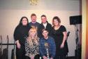 Band members (Back row l-r)  Rachel Bruce, Stew Cardno, Jamie Mathers, Anneka Niro. Front is Emma Salmond and Graemie-John Watt.