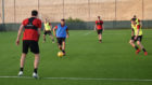 Graeme Shinnie training with the Dons in Dubai.  AFC Media.