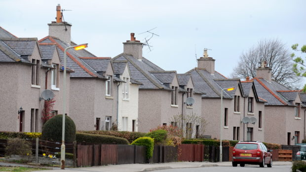 Housing in the Dalneigh area of Inverness.