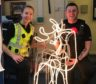 PC Lucy Cuthbert and PC Sean Horne with 'Rudolph'
