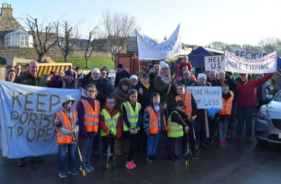 Picture from the protest held at the skip last year to highlight how popular the site is