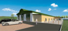 An artists impression of how the proposed visitor centre could look.