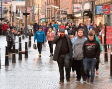 Post Christmas shoppers out in Inverness for the Boxing Day sales. Picture by Sandy McCook.