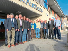 Fergus Ewing with stakeholders.
