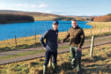 Archie Macgregor from Scottish Water, left, and tenant farmer James Royan on the right.