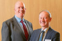 Martin Johnson, HIE Regional Head of Sectors, Inward Investment and International Trade, and Kevin Shakespeare, Director of Stakeholder Engagement at the Institute of Export and International Trade.