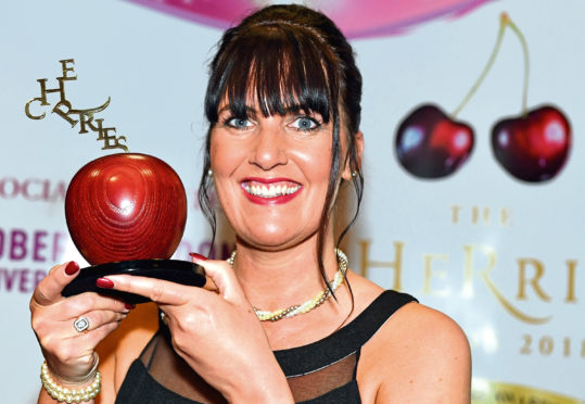 cHeRries awards Fantastic HR advisor winner Karen Buchan from Balhousie Care Group