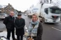 Moray MSP Richard Lochhead, Aberlour Community Association vice-convener Brian Hinnie and Speyside Glenlivet councillor Louise Laing have campaigned for a crossing across the A95 Aviemore road in Aberlour.